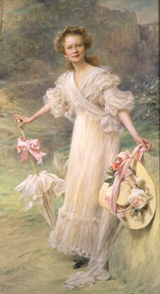 Portrait of Helen Clay Frick, (oil on canvas, French artist: Theobald Chartran, - ~ {cwl} ~ (Image: The Frick Collection) Italian Paintings, French Paintings, Henry Clay, Gilded Age, Italian Renaissance, French Artists, Art Google, Oil On Canvas, Tags