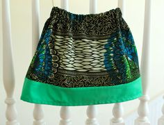 African Wax Block Twirly Skirt Size 3T-4T by LifeStitchedTogether, $25.00