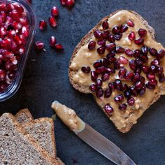 Ditch your sugary jelly or jam for fresh pomegranate with this healthy Grilled Peanut Butter and Pomegranate recipe. Made with sprouted bread, coconut oil, and pomegranate seeds, it's essentially a superfood sandwich that tastes like childhood. (And since opening that pomegranate is going to be the hardest part, here are some tips on how to cut and eat it.)