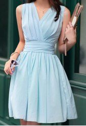 Cheap Blue Orange Red Mini Knee-Length Chiffon Chiffon Dresses | Sammydress.com