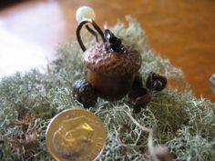 Fairy House Acorn Garden Cart Fairy World by CoyoteWoodWorks, $15.00
