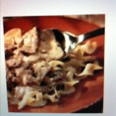 Crockpot beef stroganoff- 2 lbs stew beef, 2 cans cream of mushroom soup, 2 packets onion soup mix, 16 oz sour cream, egg noodles or rice. Spray crockpot with cooking spray, cover beef with soup mix and put in pot then pour soup on top. Cook 8 hrs on low. Before serving mix in sour cream. Pour over noodles or rice.