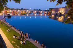Le Pont-Neuf et les berges de la Garonne, Toulouse