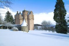An winter view of Craigievar Castle, Scotland #NTSwinter