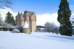 An winter view of Craigievar Castle, Scotland #NTSwinter