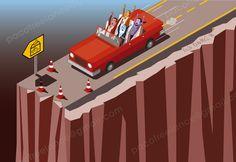Rajoy y compañía a lo Thelma y Louise. By Paco Ramirez&Mr.Illustrator