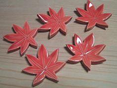 Momiji (coloured maple leaves) chopstick rests.