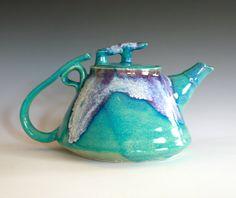 Mika, New Moon Teapot, Ceramic Teapot. Kazem Arshi/ocpottery via Etsy.