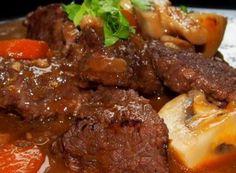 carne de vită Burgundia No Salt Recipes, Cooking Recipes, Appetizer Recipes, Appetizers, Modern Food, Pot Roast, Food Inspiration, Carne, Stew