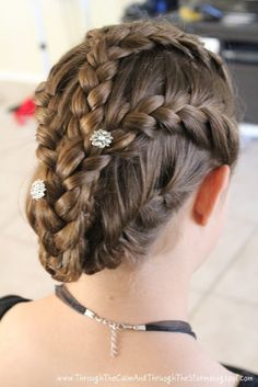 Triple Lace Braid Tutorial adorned with You-pins from LillaRose.biz/prettyhair
