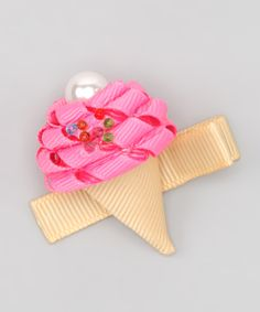 Sweet Treat Bows Hot Pink Ice Cream Clip