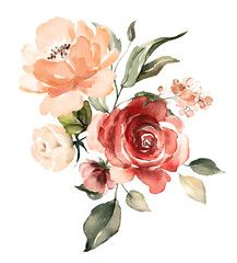 decorative watercolor flowers floral illustration Leaf and buds Botanic composition for wedding or greeting card branch of flowers - abstraction roses romantic - Buy this stock illustration and explore similar illustrations at Adobe Stock Adobe Stock Oil Pastel Paintings, Oil Painting On Canvas, Watercolor Paintings, Watercolor Landscape, Canvas Canvas, Painting Abstract, Watercolors, Illustration Blume, Watercolor Illustration