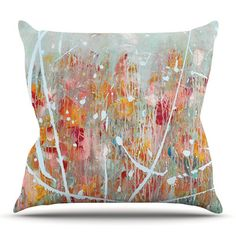 East Urban Home Joy by Iris Lehnhardt Outdoor Throw Pillow