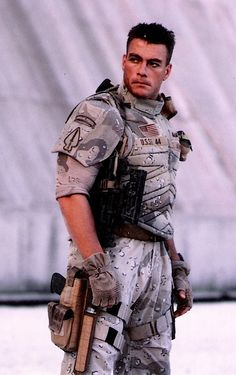 Jean-Claude Van Damme as Luc in Universal Soldier Soldier: The Return Soldier: Regeneration Soldier: Day of Reckoning Action Movie Stars, Action Movies, Soldado Universal, Karate Shotokan, Claude Van Damme, Soldier Costume, Military Looks, Boys Don't Cry, The Expendables
