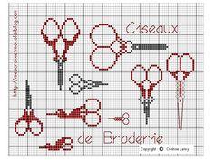 Cross Stitch Free chart クロスステッチフリーチャート: Mercerie