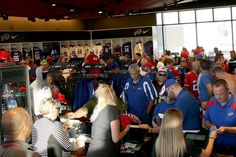 A general view of the merchandise store before the first half of a game between the Buffalo Bills and the New York Jets at New Era Field on Sept. 15, 2016 in Orchard Park, New York.