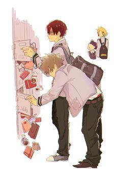 Boku no Hero Academia || Katsuki Bakugou, Todoroki Shouto, Minoru Mineta, Kaminari Denki.
