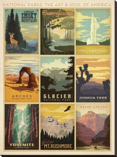 National Parks Poster Graphics
