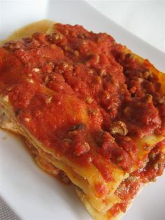 Ricetta lasagna presentazione  http://www.ledolciricette.it/2013/05/13/ricetta-lasagna/10681
