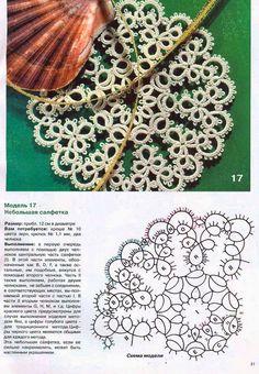 frivolite lace patterns: 11 thousand images found in Yandex. Tatting Earrings, Tatting Jewelry, Tatting Lace, Filet Crochet, Irish Crochet, Crochet Motif, Shuttle Tatting Patterns, Needle Tatting Patterns, Crazy Quilting