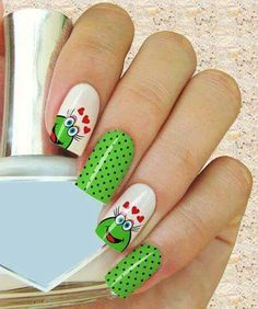 50 easy nail art designs for women 2015 Simple Nail Art Designs, Cute Nail Designs, Easy Nail Art, Great Nails, Simple Nails, Cute Nails, Winter Nail Art, Winter Nails, Hair And Nails