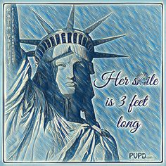 Did you know that Statue of Liberty smile is 3 feet long?!   Palm Valley Pediatric Dentistry - No Cavity Club   www.pvpd.com #pvpd #kid #children #baby #smile #dentist #pediatricdentist #goodyear #avondale #surprise #phoenix #litchfieldpark #PalmValleyPediatricDentistry #verrado #dentalcare #pch #nocavityclub