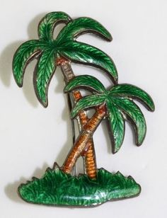 Palm Trees Enamel Pin