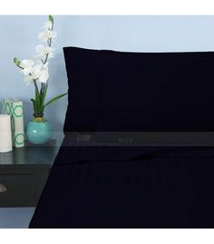 Navy Blue Stripe Twin Sheet Set Egyptian Cotton 1000-Thread Count Queen Bed Sheets, Twin Bed Sheets, Twin Xl Sheet Sets, Twin Xl Bedding, Cotton Sheet Sets, Blue Stripes, Navy Blue, Egyptian Cotton Bedding, Full Bed