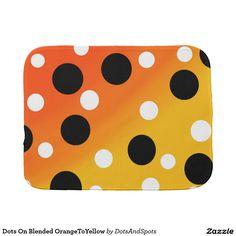 Dots On Blended OrangeToYellow Baby Burp Cloth