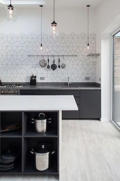 simple and stylish kitchen without wall units