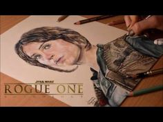 Drawing Jyn Erso (Felicity Jones) from Rogue One: A Star Wars Story - YouTube