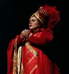 Marilyn Horne as Arsace in Rossini's Semiramide. The Metropolitan Opera 1990.