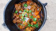 Beef Potjie recipe by Jayshree Sheik Food On Sticks, Sheik, Curry Leaves, Food Categories, Steak Recipes, Spices, Rolls, Beef, Cooking