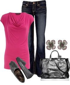 """think pink"" by fluffof5 on Polyvore"