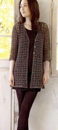 New Ideas For Crochet Cardigan Vest Shrug Pattern Crochet Lace Scarf, Black Crochet Dress, Crochet Cardigan Pattern, Crochet Jacket, Crochet Poncho, Free Crochet, Crochet Vests, Shrug Pattern, Free Pattern