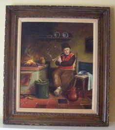"Flemish/Dutch Oil Painting On Canvas -Signed Pierre Leger 32"" X 28 1/2"""