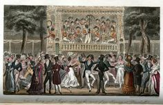 Tom, Jerry and Logic Making the Most of an Evening at Vauxhall (published 1820) by Cruikshank.