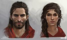 It's one of the biggest, prettiest games of the year, so it's a treat tonight to be able to share some of the work that went into the creation of Assassin's Creed Odyssey. Assassins Creed Bloodlines, Assassins Creed Rogue, Assassins Creed Odyssey, Assassin's Creed Chronicles, Comic Character, Character Inspiration, Character Ideas, Facial, Fan Art