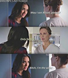 Pretty little liars Pll Memes, Funny Memes, Pll Quotes, Liars Quotes, Pretty Little Liars Emily, The Fosters Tv Show, Funny Relationship, Best Shows Ever, Favorite Tv Shows