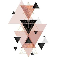 Geometric Triangles in blush and rose gold ❤ liked on Polyvore featuring fillers, backgrounds, art, doodles, decor, embellishment, text, detail, magazine and phrase