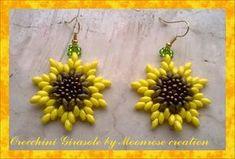 Orecchini Girasole (tutorial Sunflower Earrings) by Moonrose creation