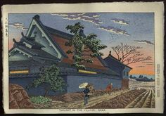 Twilight in the village, Nara. Asano Takeji 1953