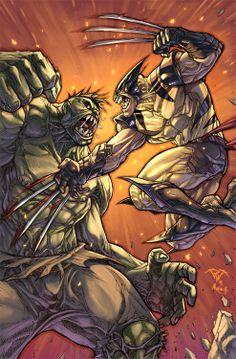 Wolverine vs The Hulk by Paolo Pantalena