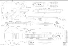 gibson es335 jazz guitar plans - full scale
