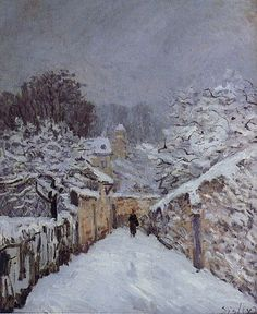Snow at Louveciennes by Alfred Sisley, 1878