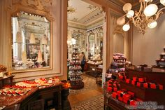 Demel - Vienna, Austria.   One of the most amazing places!   Love it (my hips don't though!)