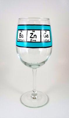 Bazinga Table of Elements wine glass by ImpulsiveCreativity, $20.00