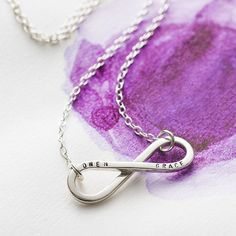 personalised silver infinity necklace by posh totty designs | notonthehighstreet.com