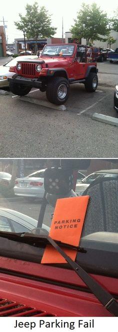 Jeep Parking Fail  #jeep #wrangler #Columbus #parkstreetfestival2013