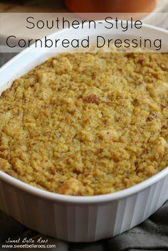 Southern-Style Cornbread Dressing- My Grandmother's Recipe